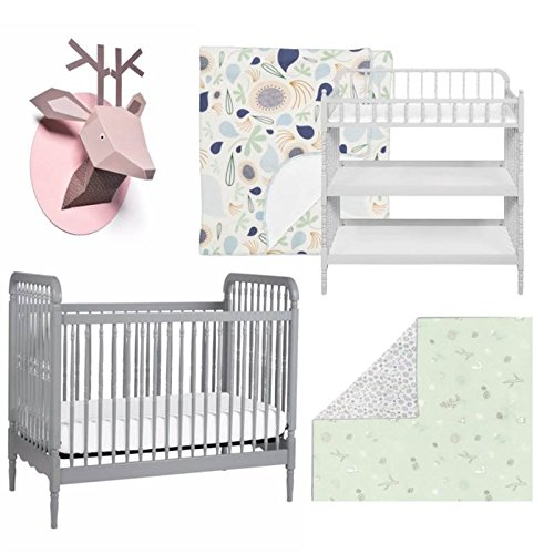 Nursery Set in White and Gray