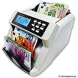 COMPTEUSE DE BILLETS VALORISATRICE EURO sur liasse mélangée - Affiche le montant en Euro