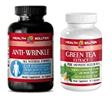 Product review for anti-aging pills - ANTI WRINKLE - GREEN TEA - grape seed resveratrol - (2 Bottles Combo)