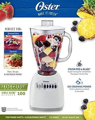 Oster 6706 6-Cup Plastic Jar 10-Speed Blender