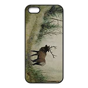 Sketch Painting Deer Hight Quality Plastic Case for Iphone 5s