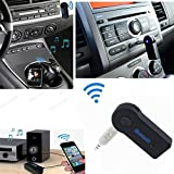 Bluetooth Music Receiver HandsFree Car Kits, 3.5mm fm Transmitter JackSuper Mini Wireless Music Adapter for Home Stereo Audio System