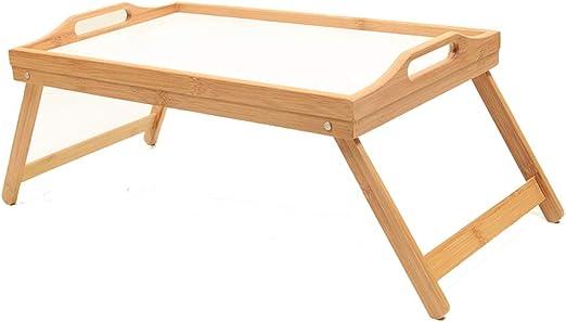 Tabla vuelta Mesa con bandeja para cama con patas plegables que ...
