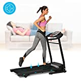 CINUE Professional Folding Exercise Electrical Treadmill, Home Gym Mini Portable Incline Motorized Training Fitness Running Machine with Rolling Wheels Home Office[US STOCK] (Black)
