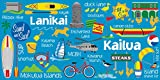 Island Home Hawaii Style Beach Towel Kailua Icons 30'' x 60''