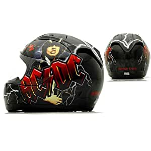 Rockhard ACDC AC/DC Full Face Street Motorcycle Helmet - Small