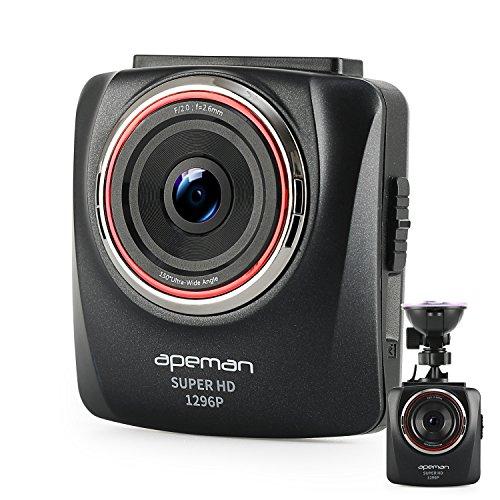 APEMAN-Dash-Cam-In-Car-Camera-DVR-Ultra-HD-1296P-2K-Dash-Camera-24-Inch-LCD-G-Sensor-Night-Vision-WDR-Parking-Monitor-Dashboard-Camera-Black