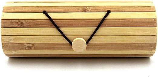 Estuche de gafas, estuche de bambú hecho a mano natural Gafas, caja de almacenamiento de gafas