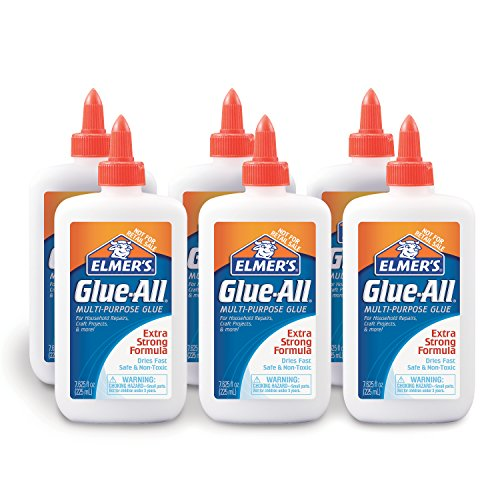 Elmer's Glue-All Multi-Purpose Liquid Glue, Extra Strong, 7.625 Ounces, 6 Count (Elmer's Glue All)