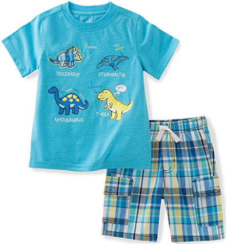 Kids Headquarters Baby Boys' 2 Pieces Shorts Set-Tee Top, Blue, 12M