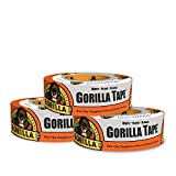 """Gorilla 6025001-3 Duct Tape, 1.88"""" x 30 yd, White, (Pack of 3), 3 - Pack, 3 Piece"""