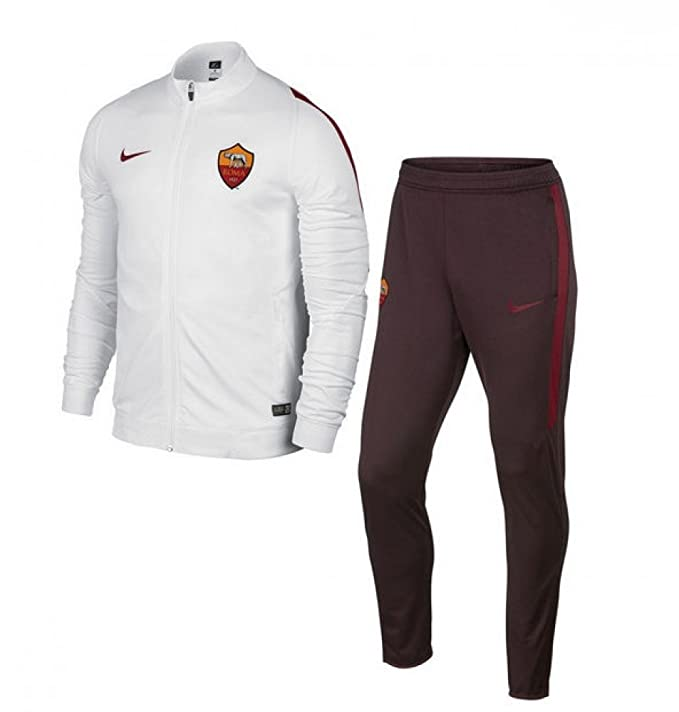 2015-2016 AS Roma Nike Knit Tracksuit (White) - Kids: Amazon.es ...