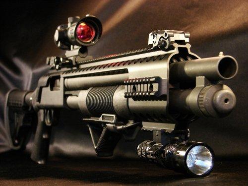 Black Aces Tactical Mossberg 500/590/590A1/Maverick 88 Quad Rail RB7M (Black Aces Shotgun Rail)