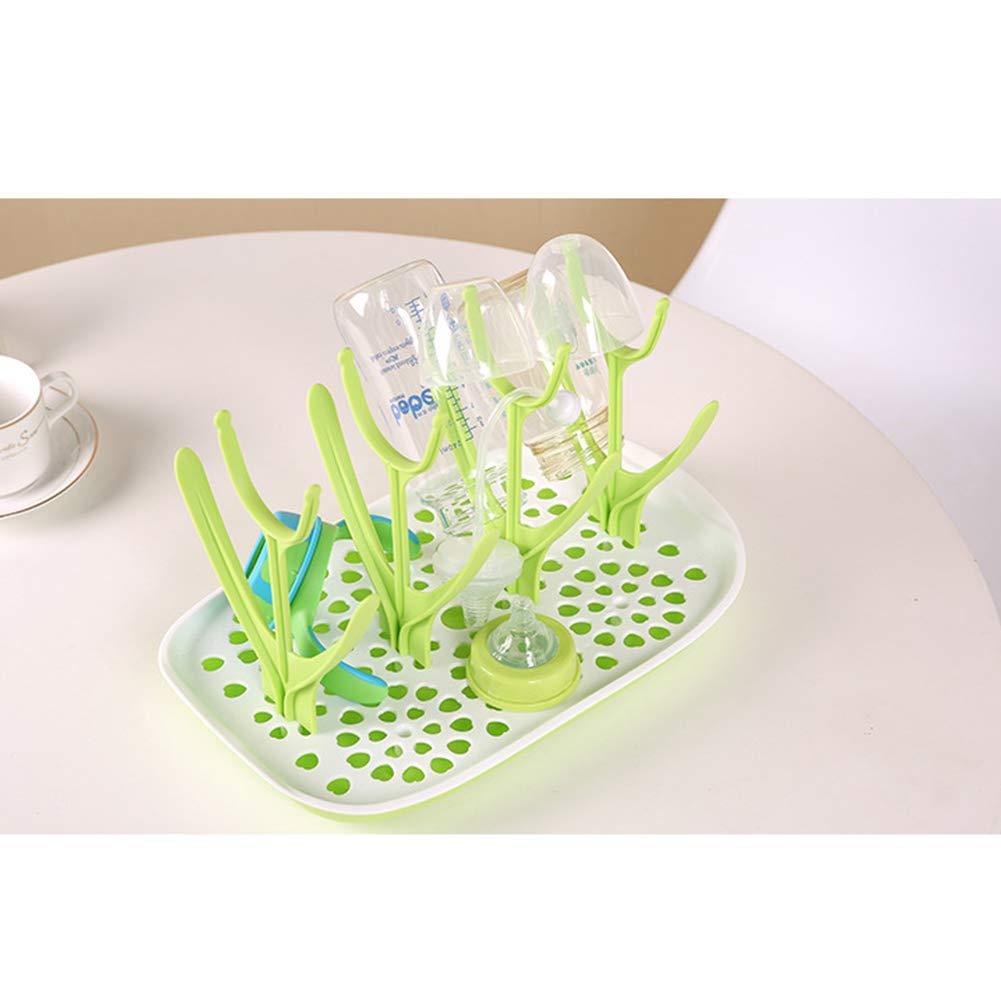 Nachdenklich Babyprodukte Milchflasche Rack-Kunststoff Kreative Praktische Babyflasche Wschetrockner Wschetrockner f/ür Flaschen Bequemer Baby-Babyflasche blau Stand