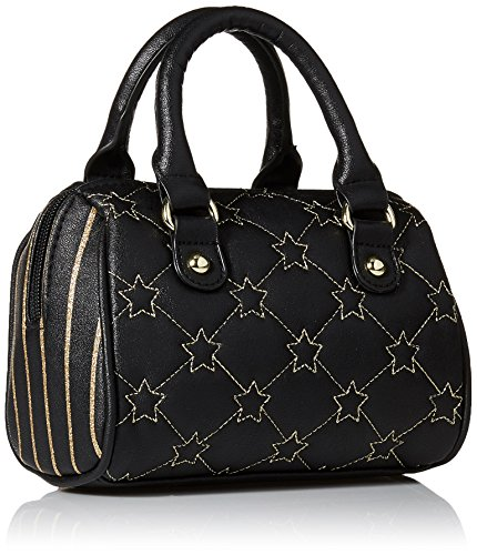 Stars Satchel Bag Gold Johnson Barrel Black Mini Crossbody Betsey 8IqAx