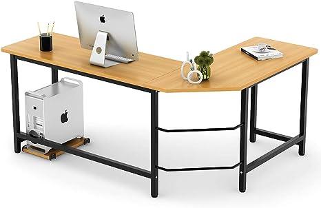 Tribesingns - Moderno escritorio en L, esquinero, escritorio para ...