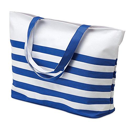 Orange Summer STRIPED amp; Shopping White Ladies BAG Blue White BEACH Shoulder STRIPE NAUTICAL Bag White amp; 7R4dqwY