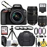 Nikon D3500 DSLR Camera with AF-P DX NIKKOR 18-55mm f/3.5-5.6G VR Lens + Tamron 70-300mm f/4-5.6 Di LD Macro Autofocus Lens for Nikon AF and Basic Travel Kit
