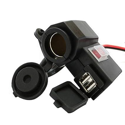 qhtongliuhewu 3.1A Cargador de Motocicleta USB Dual Divisor ...