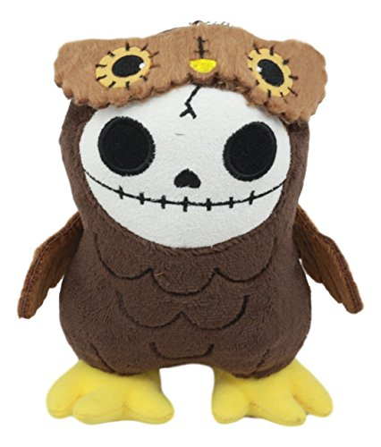 Ebros Furry Bones Skeleton Hootie The Brown Owl Plush Toy Doll Collectible 5.75