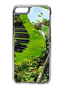 Music Jungle - Grass Piano - Clear Iphone 5C plastic case - compatible with iPhone 5C only - CHOOSE YOUR COLOR