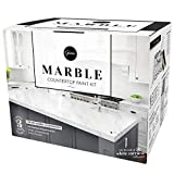 Giani Marble Countertop Paint Kit, Carrara White