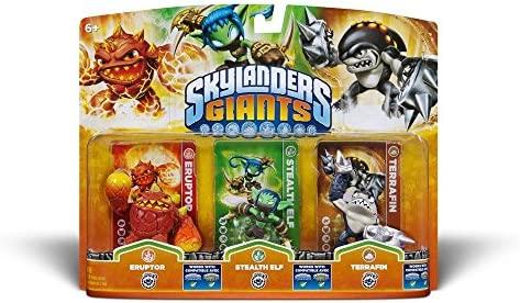 Skylanders: Giants - Triple PacK F: Eruptor + Stealth Elf + ...