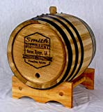 Custom Engraved White American Oak Aging Barrels (10 Liter) RHB129