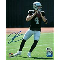 $137 » Derek Carr Autographed/signed Oakland Raiders 8x10 Photo 21151 Bas - Autographed NFL Photos