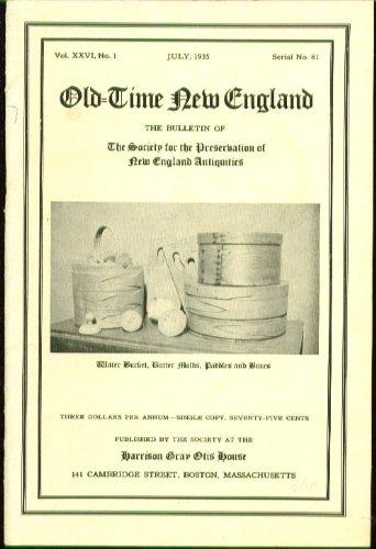 OLD-TIME NEW ENGLAND Bagnall Clocks De Miranda 1840 Pantry Shelves 7 1935
