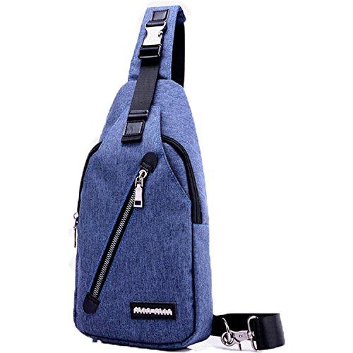 MeCooler Bolso de Pecho Hombre Bolso Bandolera Ocio Bolsas de Viaje Bolsos Sport Outdoor Bag Montaña Ciclismo Azul