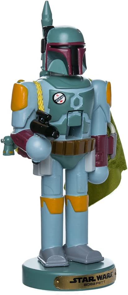 "Kurt Adler 10"" Star Wars Boba Fett Nutcracker"
