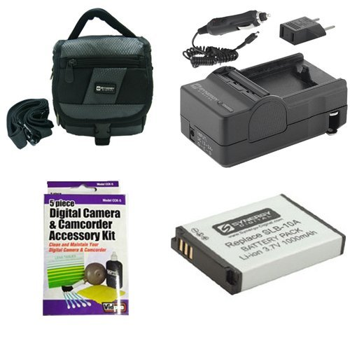 Samsung WB1100F Digital Camera Accessory Kit includes: SDSLB10A Battery, SDM-1501 Charger, SDC-27 Case, ZELCKSG Care & Cleaning