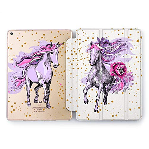 Wonder Wild Purple Unicorn Apple iPad Pro Case 9.7 11 inch Mini 1 2 3 4 Air 2 10.5 12.9 2018 2017 Design 5th 6th Gen Clear Smart Hard Cover Horse Narwhal Mythic Peonies Girly Hearts Gallop Tender]()