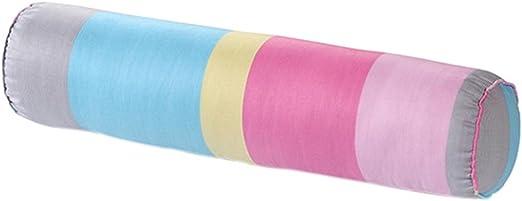 nunubee suave Cuello Rollo almohada con barem lavable de algodón funda Caramelos Gefo blindado almohada cojín lumbar, algodón, Bunte Streifen, 15*60cm: Amazon.es: Hogar
