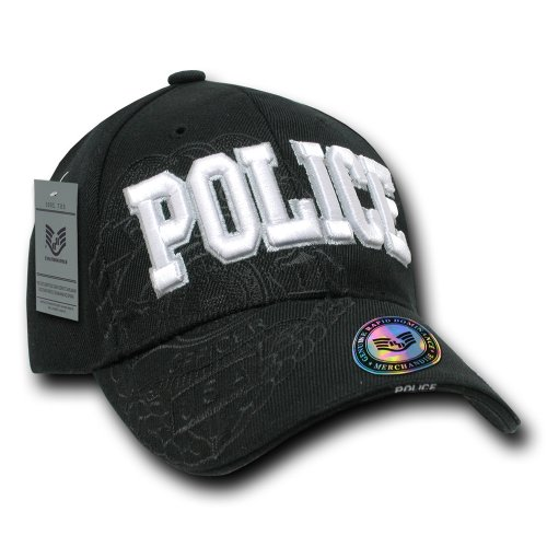 (Rapiddominance Police Shadow Law Enforcement Cap, Black)