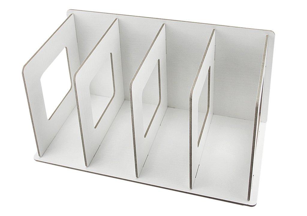 Buchablagen Stehsammler Stehordner Holz F/ächerbox f/ür Schreibwaren Schreibtisch Organizer DIN A4 A5 Schwarz Wei/ß Gr/ün