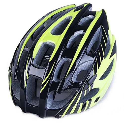Casque de vélo,, monter, en, vélo, casque,, jardin, intégré, 57–62cm), noir, vert