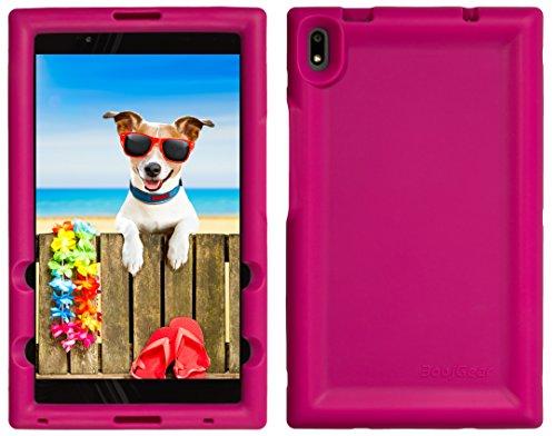 BobjGear Bobj Rugged Tablet Case for Lenovo Tab 4 8 Plus (TB-8704V, TB-8704F, TB-8704X, TB-8704A) - BobjBounces Kid Friendly (Rockin Raspberry)