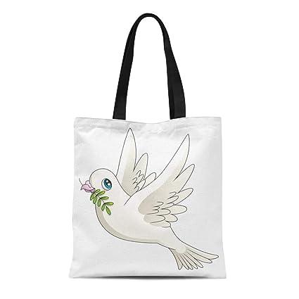 32c0d7adcfae Amazon.com: Semtomn Cotton Canvas Tote Bag Green Story of Cartoon ...