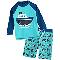 Vaenait baby 2T-7T Kids Boys 50+ UPF Rashguard Swimsuit Bathing Suit Swimwear Sets