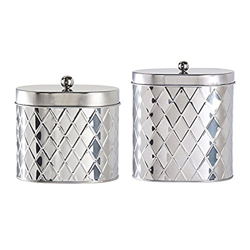 2 Piece Canister (Amici Home Seychelles Oval Diamond Canister, Set of 2)