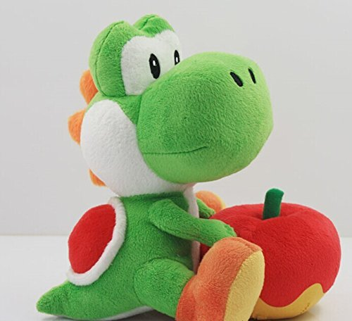 """Super Mario Brothers 6"""" Plush yoshi with apple toy Doll"""