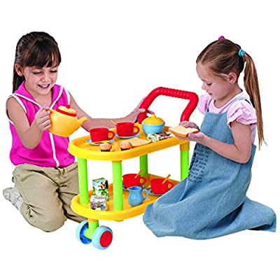 23-piece Tea Time Trolley Set: Toys & Games