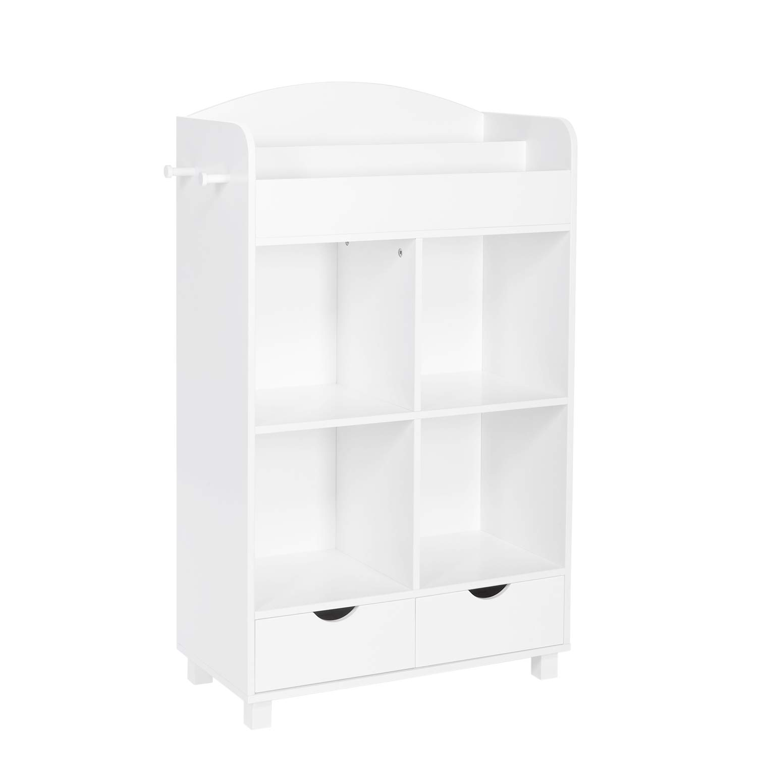 RiverRidge Home Book Nook Collection Kids Cubby Bookrack Storage Cabinet, White