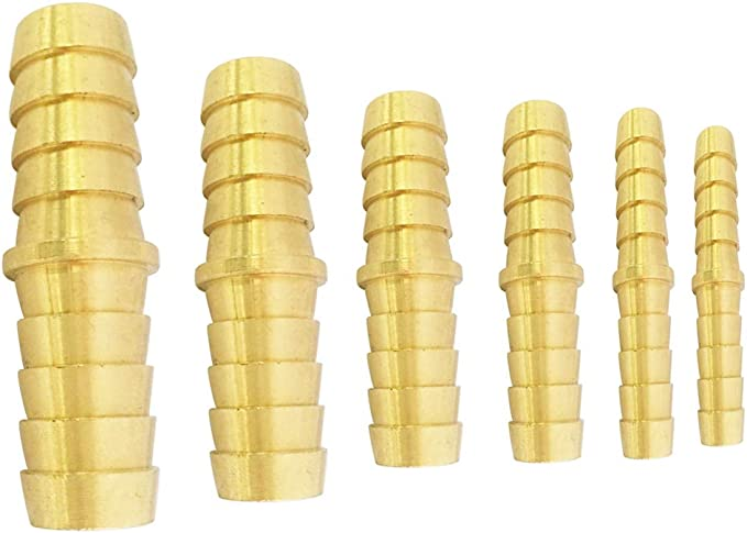 """12mm-16mm-12mm Y 3-Way Brass Fitting Hose Barb Splicer Fuel to 5//8/"""" /<1//2/"""" Adapte"""