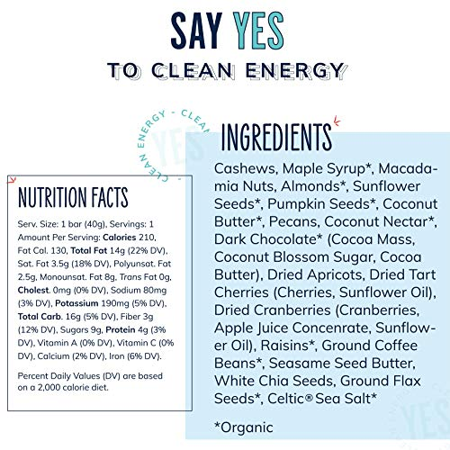 The YES Bar – Coffee 'N' Chocolate – (6Count) Plant Based Protein, Decadent Snack bar – Vegan, Paleo, Gluten Free, Low Sugar, Healthy Snack, Breakfast, On-The-Go, for Kids & Family