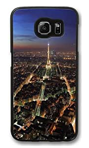 Samsung Galaxy S6 Case, Samsung Galaxy S6 Cases -Top view of the Eiffel Tower Custom PC Hard Case Cover for Samsung S6/Samsung Galaxy S6 Black