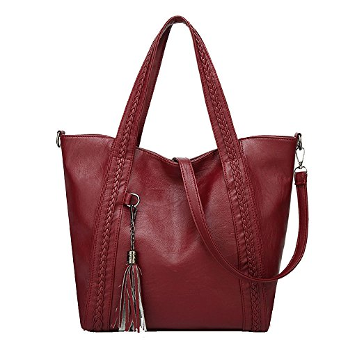 Bucket Winered Frangia Ladies Selvatici Moda Bag Vintage SwdqY7aa