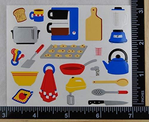 - Mrs Grossman Sticker Scrapbooking Cooking Equipment Rare Blender Pot PAN Mixer 20 pcs on Strip, 3